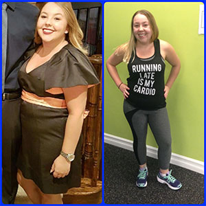 Before and After weight loss from Private Gym in Keswick